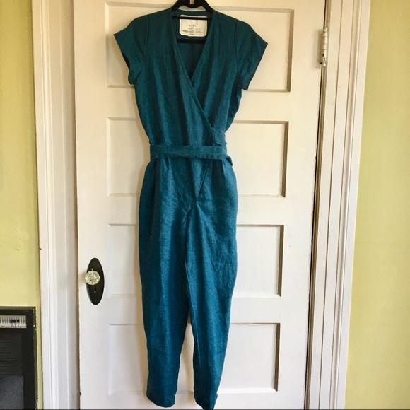 aa096254676 Handmade NotPerfectLinen jumpsuit from Etsy. M 5ae3aca95512fd94cd95eb7b